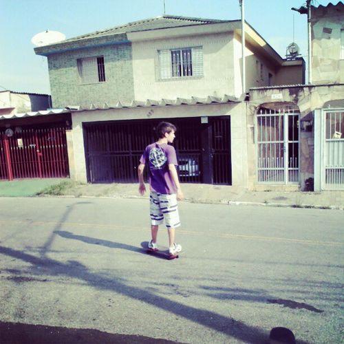 @qiinhos tirando onda kkkkk ... 1sec depois da ft ele caiu mais para frente Marcos Skate