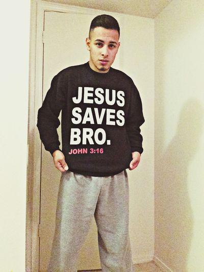Jesus Saves Bro Crewneck Ootd