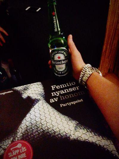 Party!! Girlsnight!! ? 50shadesofgrey Party GirlsNight Enjoying Life Beer Heineken Strömpis Örebro  Sweden
