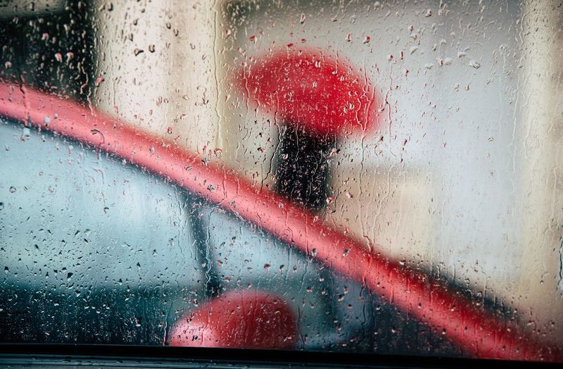 17.62° Wet Drop Water Transparent Rain Window Car RainDrop Motor Vehicle Glass - Material Vehicle Interior Rainy Season Mode Of Transportation Red Transportation Nature Indoors  No People Glass My Best Photo
