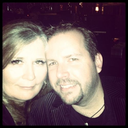 Me and my handsome husband...