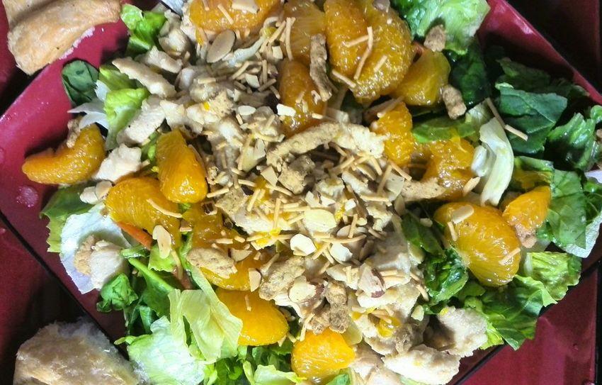 Its how I do a Cool Summer Meal on a Hot Summer Eve... Enjoying Life Food Salad Salad Time Chicken Salad Mandarin Oranges Mandarin Orange Favorite Salad Salads Saladporn