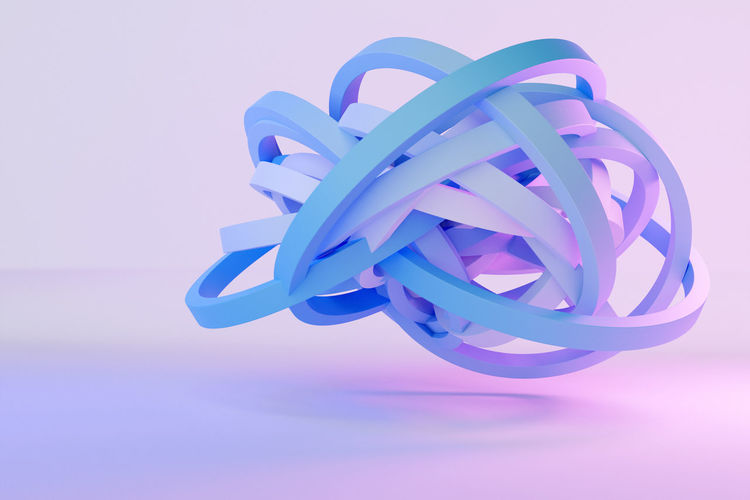 Close-up of blue toy against white background