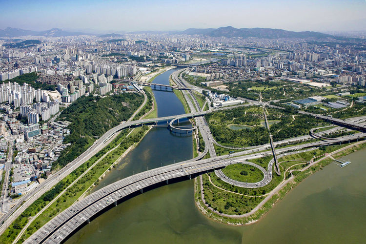 seoul forest park aerial photo Aerial View City Cityscape Day Dronephotography High Angle View Landscape Outdoors River Road Seoul Forest Park EyeEm Diversity