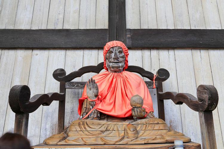 Statue outside temple