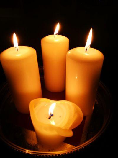 3 Kerzen 3 Candles Advent Christmas Decoration Weihnachten Kerzen Representing Illuminated Black Background Flame Heat - Temperature Burning Spirituality Melting Yellow Luminosity Candlelight Wax Advent Christmas Lights Religious Celebration