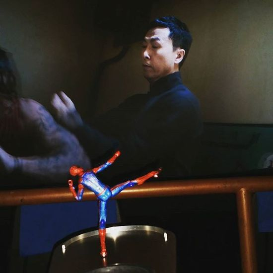 Day 3 and Spidey enjoyed IP Man 3 a little too much. Thinks he knows Kung -Fu now. 😂 Fwebruary Toyphotography Kungfu  Ipman Ipman3 Brucelee