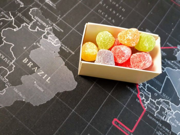 Colors Sugar Cube Gelatin Gelatine Blackboard  Heart Shape Sweet Food Powdered Sugar