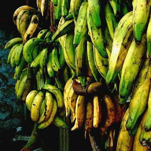 Food And Drink Close-up Freshness Green Color Outdoors Bunch Collection Heap Food Banana Fruites Market