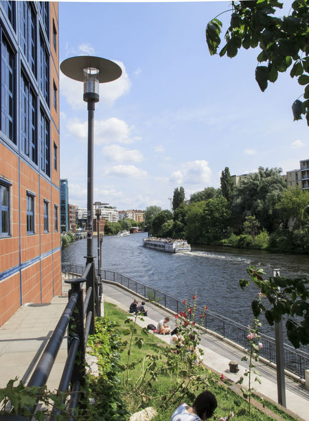 Berlin today Architecture Berlin Building Exterior Built Structure City City City Life Day Germany Nature Outdoors Ship Sky Spree Tourists Travel Destinations Tree Water