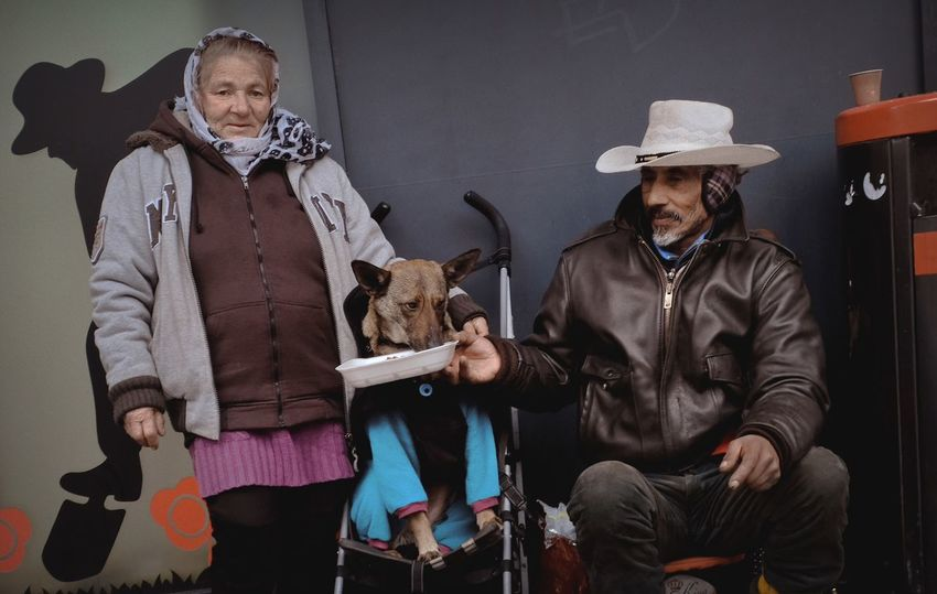 - FROM MILAN WITH LOVE - Check This Out Street Photography Streetphotography Portrait Photography Portrait Family❤ Dog Love Gypsy Pets Domestic Animals Front View Dog Mammal One Animal Indoors  Casual Clothing Sitting Looking At Camera Two People Real People Portrait Friendship Day Adult People