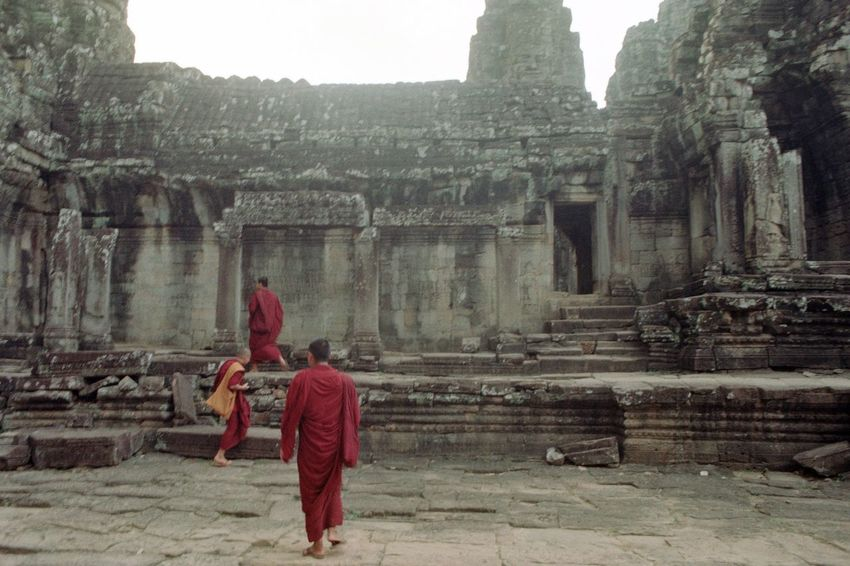 Monks Buddhist Analogue Photography Filmisnotdead Film Photography 35mm Film Architecture Real People Built Structure History Place Of Worship The Past Building Exterior Architecture Real People Built Structure History Place Of Worship The Past Building Exterior