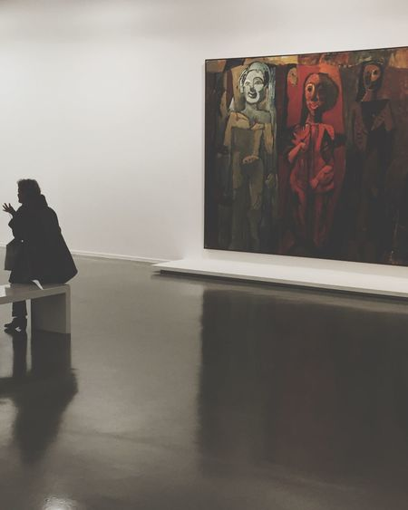 Markus Lüpertz Retrospective People In Museum Museum Art ArtWork People Discovering Great Works Peoplephotography Painting Reflection