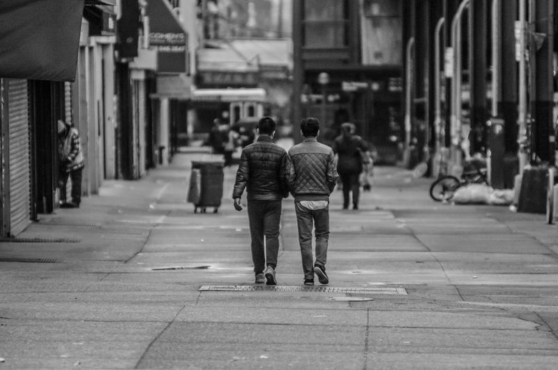 Rear View Street Real People City Walking Outdoors Two People Togetherness Lifestyles People The Street Photographer The Street Photographer - 2017 EyeEm Awards Streetwise Photography