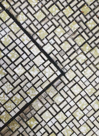 Marble floor Backgrounds Full Frame Pattern No People Repetition Textured  Design High Angle View Day Flooring Shape Close-up Outdoors Tile Directly Above Abstract Footpath White Color Paving Stone Tiled Floor