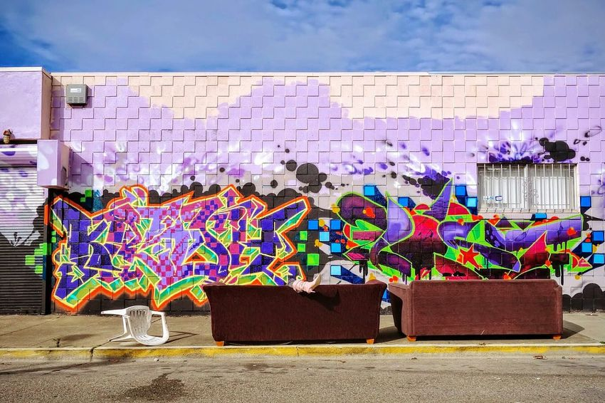 These Boots  Graffiti Wall Urban Landscape Working Dumped Old Couch The Street Photographer - 2016 EyeEm Awards