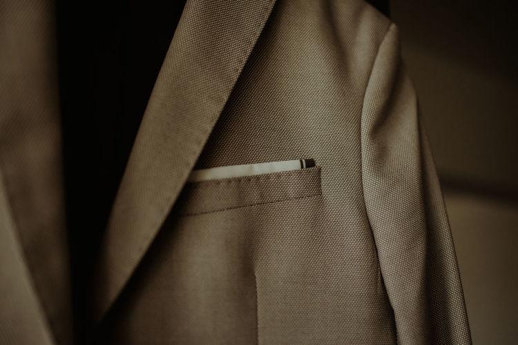 Close-up of suit