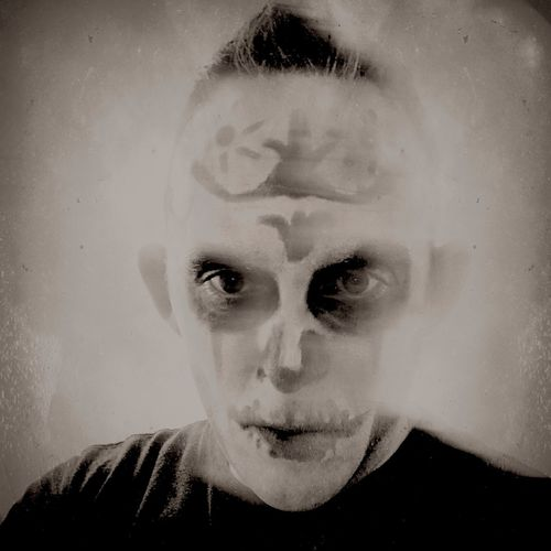 Black And White Skull Makeup Carnival Real People Human Face One Person Lifestyles Looking At Camera Leisure Activity Portrait