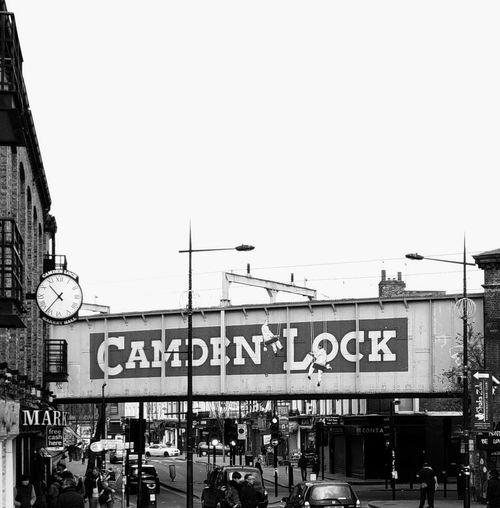 Black & White Built Structure Candem Lock City Street Clock London Samsungphotography Taking Photos Traveling