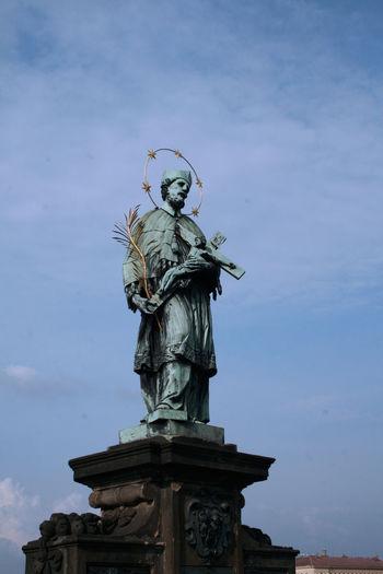 Charles Bridge Day Human Representation Monument Prague Sculpture Sightseeing Sky Statue Tourism