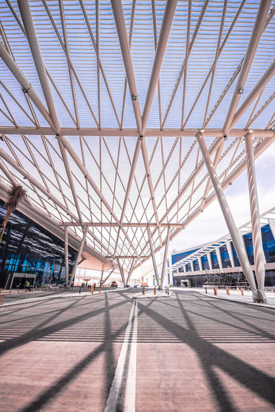 Airport Architecture Built Structure City Day Details Egypt Lights Modern Modern Architecture Outdoors Shadows Sky The Architect - 2017 EyeEm Awards Wideangle
