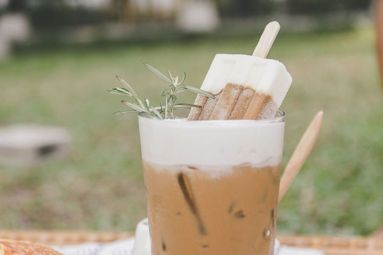 Caffeine Coffee Cool Ice Iscream Drink Ice Cream Milk