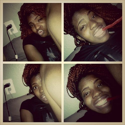 Yes it's 1:22 in the morning & I'm up eating twizzlers cause there my favorite ^_^