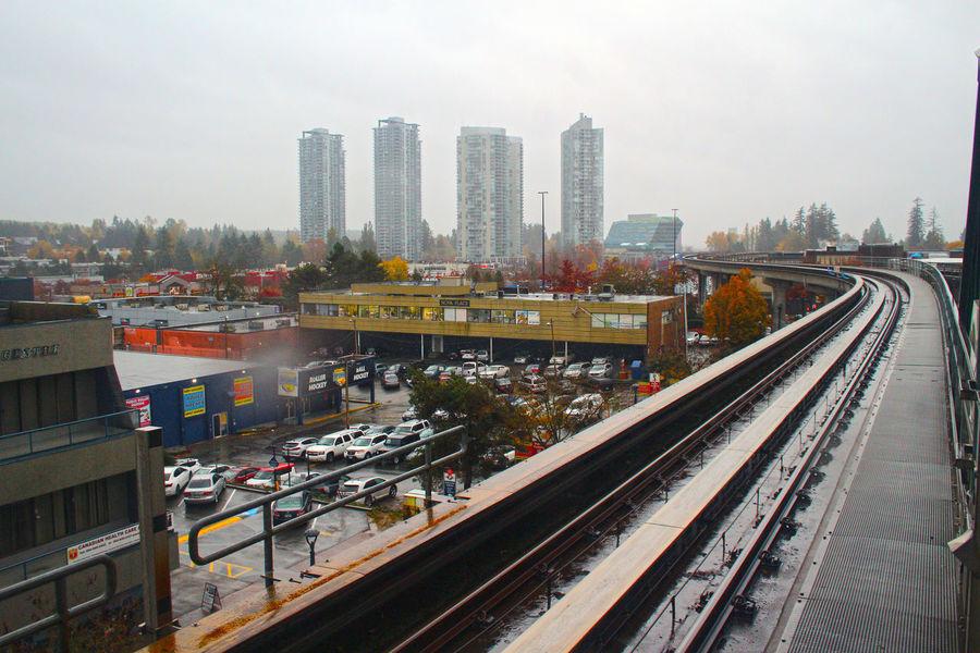 Surrey Central in Surrey B.C. Canada. Surrey, Bc Urban Skyline Canada B.C Leaf Autumn No People Surrey Centra