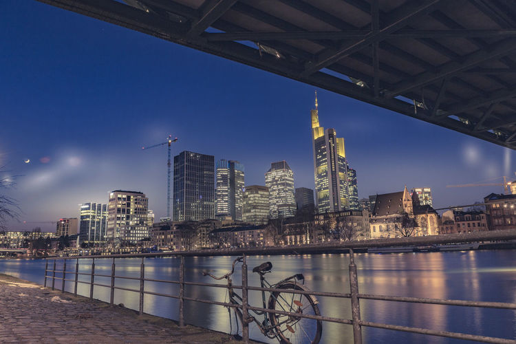 Architecture Bridge - Man Made Structure Building Exterior Built Structure City Cityscape Connection Day Illuminated Modern No People Outdoors Reflection River Sky Skyscraper Travel Destinations Urban Skyline Water