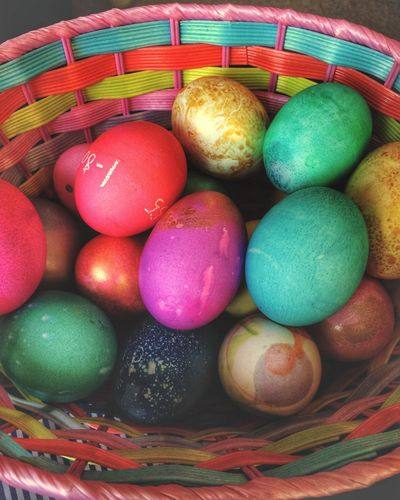 ✨🐰🥚Happy Easter🥚🐰✨ Tadaa Community Multi Colored Easter Egg Easter Egg Food Food And Drink Indoors  Basket Sweet Food No People Close-up Freshness Day IPhoneography
