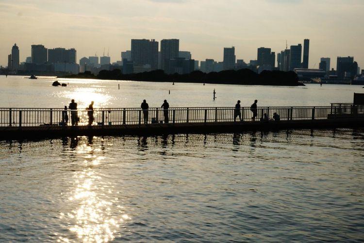 Tokyo bay【東京湾・東京】 Tokyo Bay Sky The Nature Nature Japan Superb View Of Japan Cure Sunset