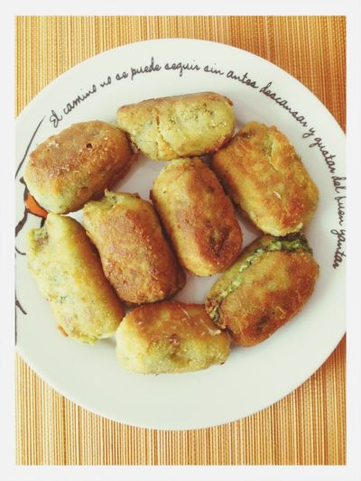 Spinachs croquettes. Food Vegetarian Food Croquette Croquetas