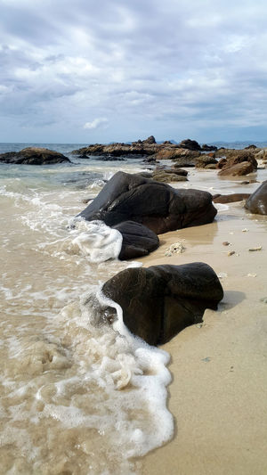 Beach Escapism Outdoors Power In Nature Relaxation Rock Sea Water