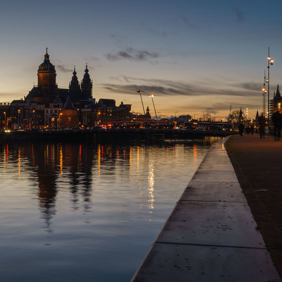 After Sun Amsterdam Architecture City Cityscape Dusk Dusk In The City Dutch Dutch Cities Europe Famous Place Holland Light Long Exposure Nederland Netherlands Outdoors Reflection Rippled Seeing The Sights Twilight Water Waterfront Your Amsterdam
