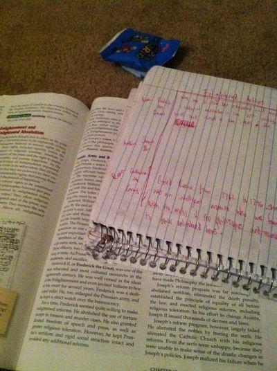 Doing world history Homework!..