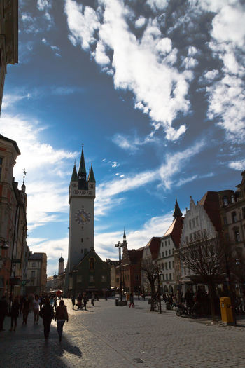 Architecture Bell Tower Building Exterior Built Structure Clock Tower Cloud - Sky Day History No People Outdoors Place Of Worship Rathausturm Religion Sky Spirituality Travel Destinations