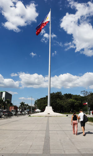 Republic of the philippines Philippines Politics And Government Patriotism Blue Flag History Full Length Sky Cloud - Sky Architecture Monument Triumphal Arch National Monument Civilization National Icon Symbolism Pole War Memorial Mausoleum