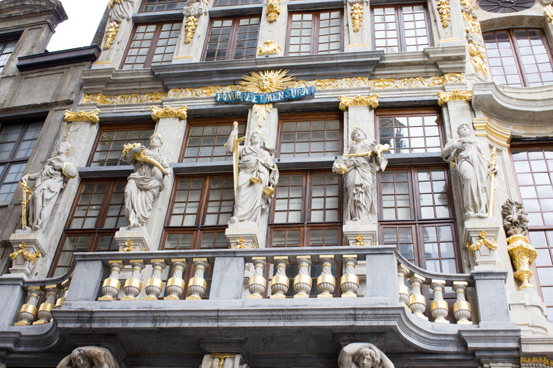 Architecture Backgrounds Bas Relief Belgique Belgium Brussels Building Exterior Built Structure Day Gold Colored History Low Angle View No People Outdoors Sculpture Statue