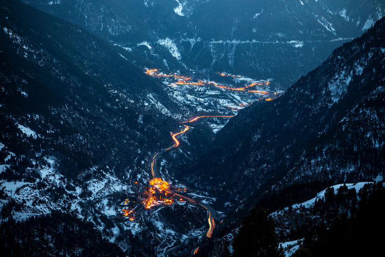 Mountain Nature Scenics - Nature Beauty In Nature No People Environment Mountain Range Land Geology Non-urban Scene Night Landscape Volcano Tranquil Scene Outdoors Motion Rock Burning Water Physical Geography Power In Nature Mountain Peak