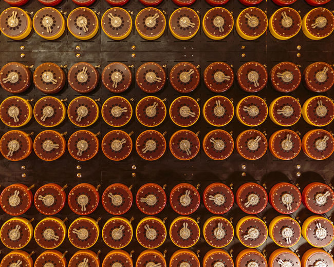 Bombe decoding machine at WWII Code Breaking Museum, Bletchley Park, Bletchley, Milton Keynes, England Breaking Keynes Machine Milton WWII Bletchley  Bombe Code Computer Decoding England Europe Military Museum Old Park Second Technology Uk Vintage War World Ww2