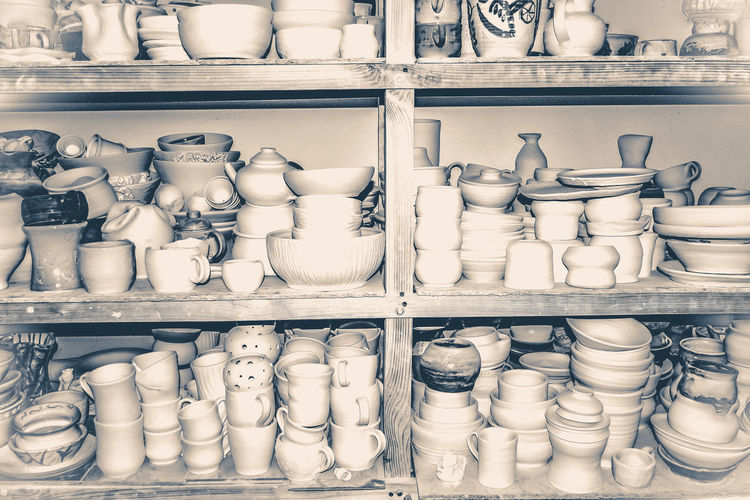 Various objects for sale in store