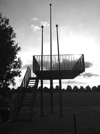 Built Structure Sky Low Angle View Architecture Tree Steps Silhouette Cloud Pole Staircase Outdoors Cloud - Sky Day Nature No People Tranquility Scenics Remote Tranquil Scene Observation Point Blackandwhite Black And White Black And White Friday
