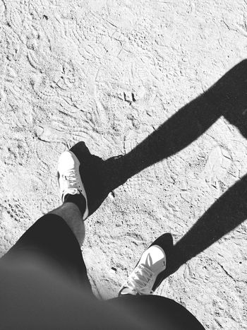 My Shadow and me, running.