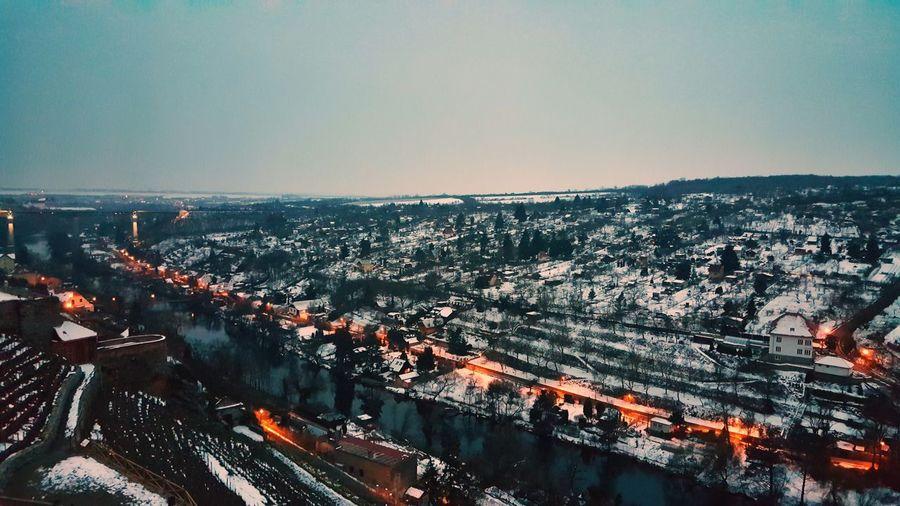Cold Temperature Lights Winter City Cityscape Sea Day Beauty In Nature Scenics Cityscape City Clear Sky Water Architecture