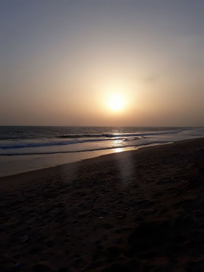 Caught this right on camera ❤❤ Beach Sand Nature Vacations Sea Sunset Landscape Horizon Over Water Water Tourism Scenics Sky Tranquility Dramatic Sky Tranquil Scene Sun Reflection Beauty In Nature Travel Destinations Majestic first eyeem photo