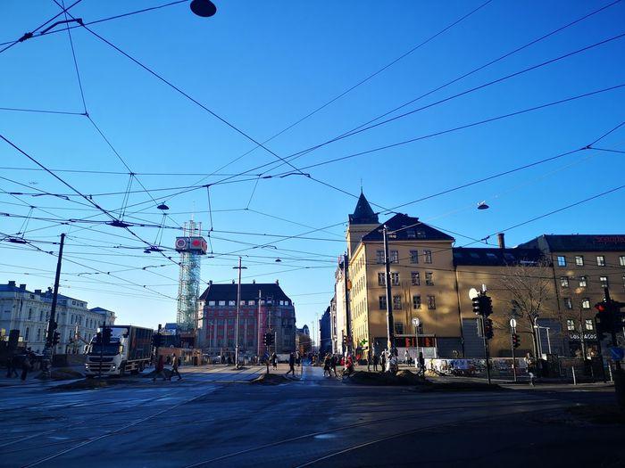 Bird City Blue Sky Architecture Building Exterior Built Structure Cloud - Sky Tramway Track Street Scene