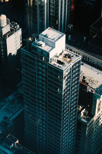 High angle view of building in new york.