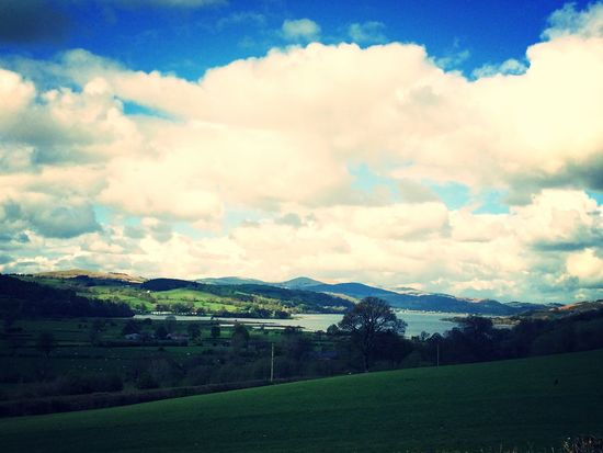 View of Bala Lake Bala Lake Countryside Lake View Lake Water Fields Mountains Sky Clouds Clouds And Sky