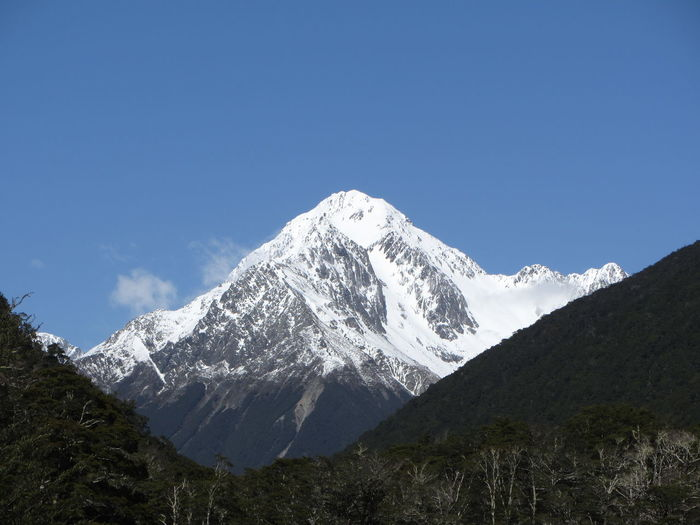 Nelson Lakes National Park Beauty In Nature Blue Clear Sky Day High Landscape Mountain Mountain Range Nature New Zealand No People Outdoors Scenics Sky Snow Snowcapped Mountain Tranquil Scene Tranquility
