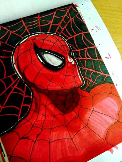 Spidey ❤ Drawing Skribbles Sketch Daily Doodle  Art My Art Graphic